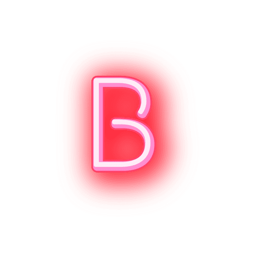 Fonte neon vermelho timbrado b
