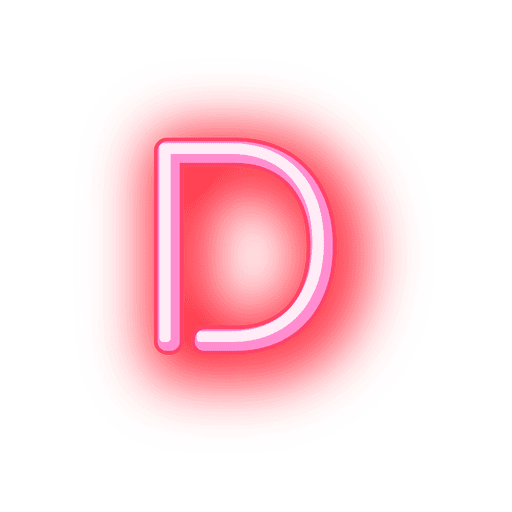 Fonte neon vermelho timbrado d
