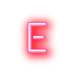 Letterhead red neon font e