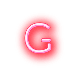 Papel timbrado fonte neon vermelha g