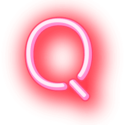 Briefkopf roter Neontext q