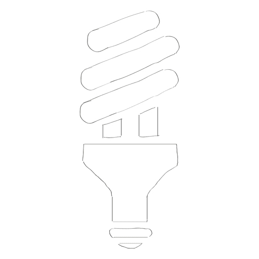 Lightbulb energy bulb doodle Transparent PNG
