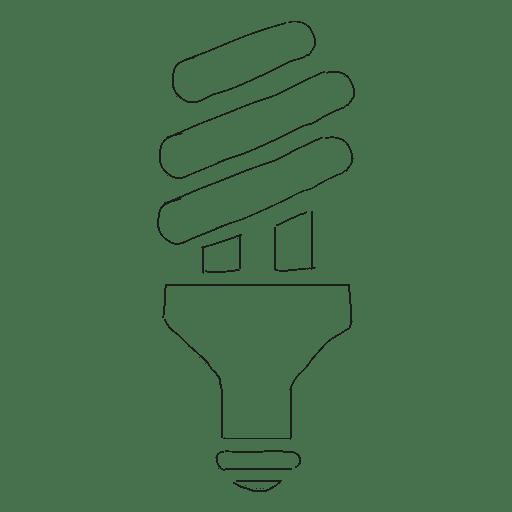 Lightbulb energy bulb doodle