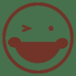Loughing com emoji olho piscou