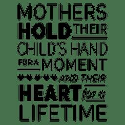 Design da citação da tipografia do dia das mães