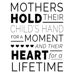 Mothers day typography quote