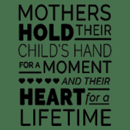 Muttertag Typografie Zitat Design Transparent PNG