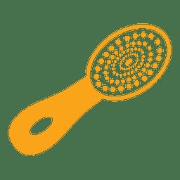 Escova de cabelo de cerdas naturais
