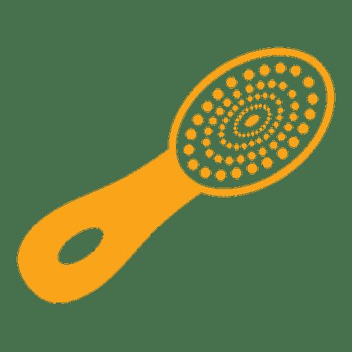 Natural bristle hair brush