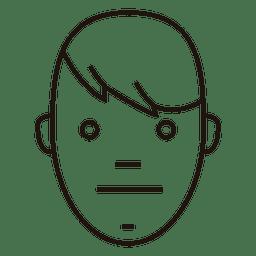 Neutral face boy side hair