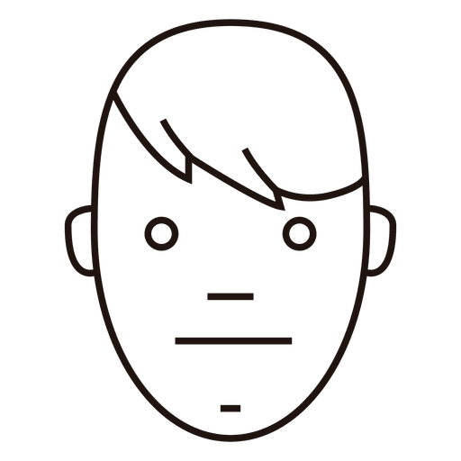 Neutral Face Boy Side Hair Transparent Png Svg Vector File