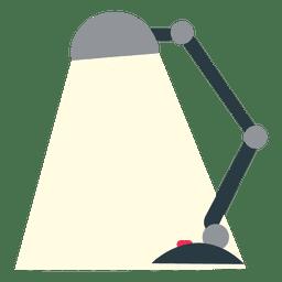 Lâmpada de mesa plana de escritório