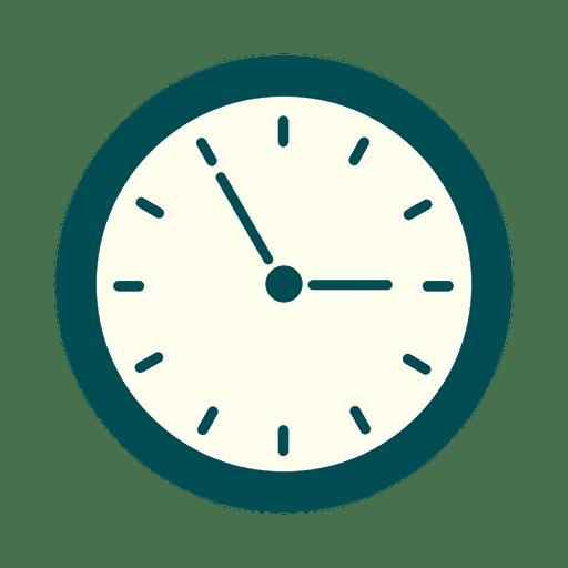 Reloj de pared plano de oficina Transparent PNG