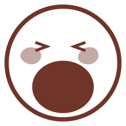 Boca aberta olhos fechados emoji
