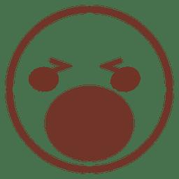Open mouth closed eyes emoji