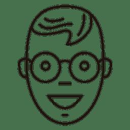 Óculos ótimos garoto