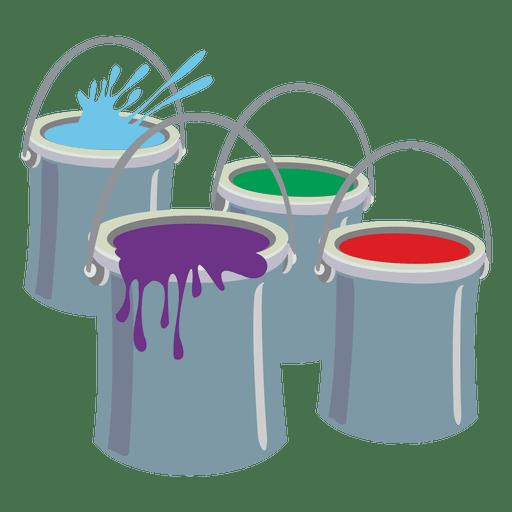 Paint buckets Transparent PNG