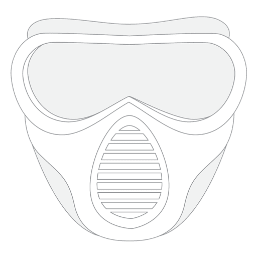 Paintball mask stroke Transparent PNG