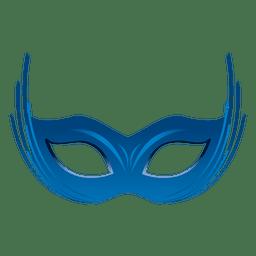 Parte máscara de carnaval azul