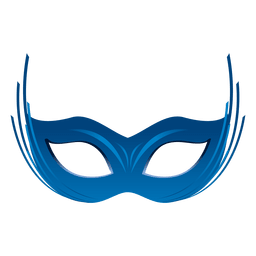 Party blue carnival mask