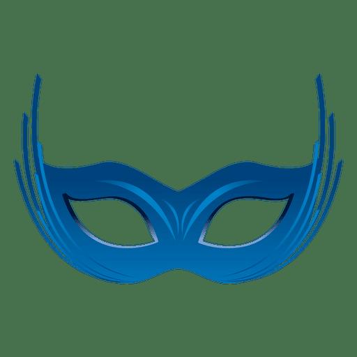Máscara de carnaval azul fiesta Transparent PNG