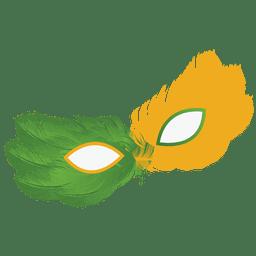 Parte brasil bandera carnaval máscara