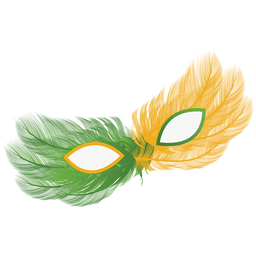 Partido brasil bandeira carnaval máscara