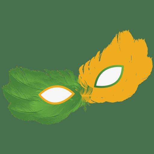 Party brazil flag carnival mask