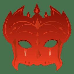 Parte carnaval rojo máscara