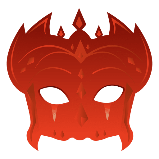 Party red carnival mask Transparent PNG