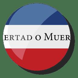 Pin insignia 33 orientales bandera uruguay
