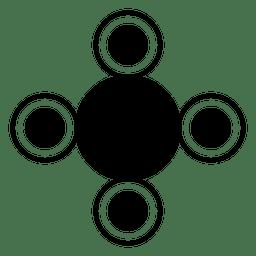 Colheita de forma cirlces formas redondas