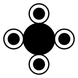 Forma recortada cirlces formas redondas