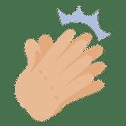 Firmar aplaudir la mano