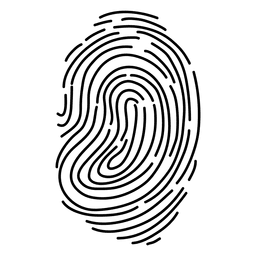 Curso de impressão digital de silhueta