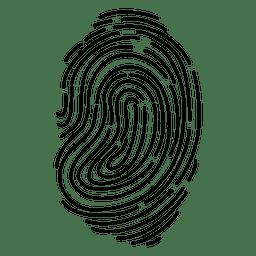 Trazo de huella digital silueta