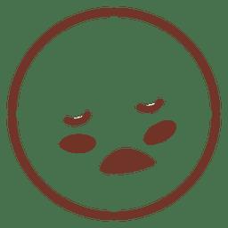 Schlafen lustiger Emoticon