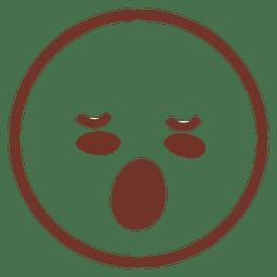 Emoticon sonolento