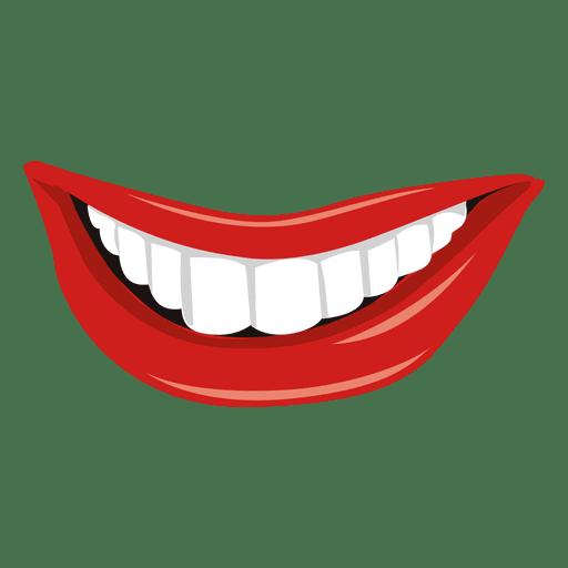 Lächelnder Mund zum Ausdruck bringen Transparent PNG