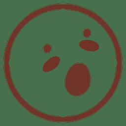 Surprised flat emoticon