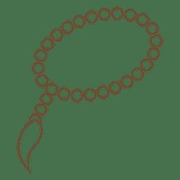 Tasbih rosario islam icono de trazo