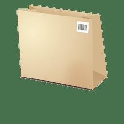 Bolsa de cartón plantilla con barras de código 1