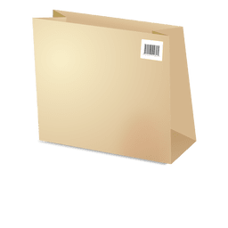 Plantilla bolsa de cartón con los códigos de barras 1