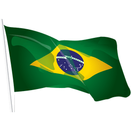 Viaje bandera de Brasil ondeando
