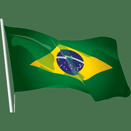 Bandera de brasil de viaje ondeando Transparent PNG