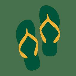 Bandera de sandalias de brasil de viaje