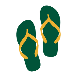 Viagens brasil sandálias bandeira