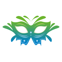Bunte Karnevalsmaske der Reise