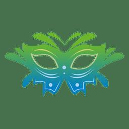 Máscara de carnaval colorido de viagem