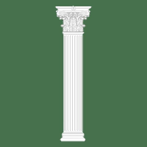 Travel corinthian greek column Transparent PNG